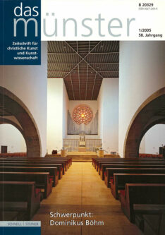 """Cover """"Das Münster – Schwerpunkt: Dominikus Böhm"""""""