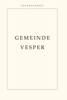 "Cover ""Gemeindevesper"""